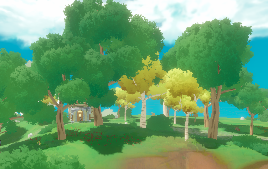 Revamping Edge's Artstyle: Fluffy Painted Trees!